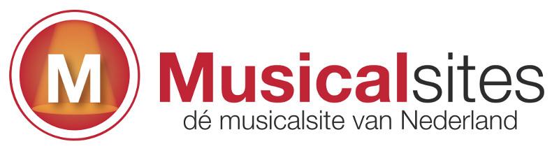Musicalsites, jouw musical magazine. Logo